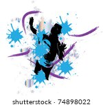 abstract painting with urban... | Shutterstock .eps vector #74898022