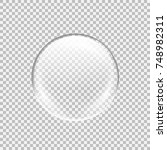 transparent glass sphere with... | Shutterstock .eps vector #748982311