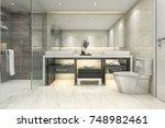 3d rendering modern classic... | Shutterstock . vector #748982461