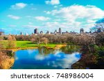scenic view of central park in...   Shutterstock . vector #748986004