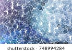 abstract winter background with ... | Shutterstock . vector #748994284