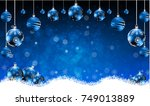 new year background with blue... | Shutterstock .eps vector #749013889