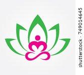 meditation logo   Shutterstock .eps vector #749014645
