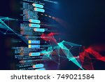 abstract  futuristic... | Shutterstock . vector #749021584