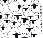 sheep seamless pattern.vector...   Shutterstock .eps vector #749023225