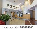 hotel interior  reception area | Shutterstock . vector #749023945