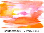 watercolor background | Shutterstock . vector #749026111