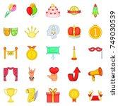honor icons set. cartoon set of ...   Shutterstock .eps vector #749030539