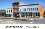 a small downtown area in comer  ... | Shutterstock . vector #74903071