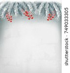 christmas holiday decoration... | Shutterstock .eps vector #749033305