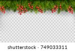 christmas holiday decoration... | Shutterstock .eps vector #749033311