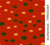 christmas seamless pattern with ... | Shutterstock .eps vector #749033365