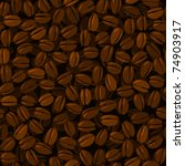 coffee beans seamless background | Shutterstock .eps vector #74903917