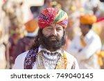 jaisalmer  india   february 08  ... | Shutterstock . vector #749040145