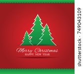 merry christmas cards. | Shutterstock .eps vector #749043109