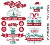christmas background vector... | Shutterstock .eps vector #749043409