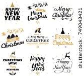 christmas background vector...   Shutterstock .eps vector #749043421