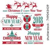 christmas background vector... | Shutterstock .eps vector #749043439