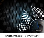 speed racing background with... | Shutterstock .eps vector #74904934