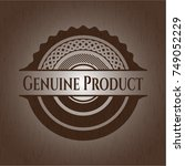 genuine product retro style... | Shutterstock .eps vector #749052229