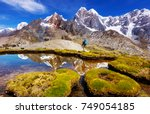 beautiful mountains landscapes... | Shutterstock . vector #749054185