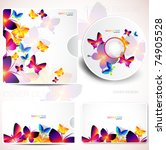 cover design template of disk... | Shutterstock .eps vector #74905528