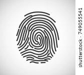 fingerprint icon. fingerprint... | Shutterstock .eps vector #749055541