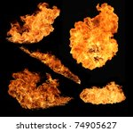 fire flames collection ... | Shutterstock . vector #74905627