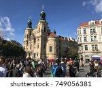 prague  czech republic   oct 6  ... | Shutterstock . vector #749056381