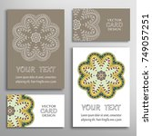 mandala sign symbol  colorful... | Shutterstock .eps vector #749057251