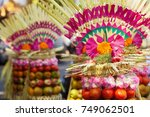 traditional balinese offering... | Shutterstock . vector #749062501