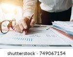 close up of business woman... | Shutterstock . vector #749067154