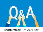 question and answer concept... | Shutterstock .eps vector #749071729