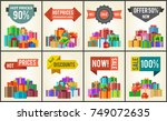 promo labels hot prices sale... | Shutterstock .eps vector #749072635