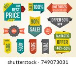 hot prices sale clearance on...   Shutterstock .eps vector #749073031