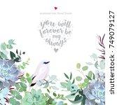 botanical vector design card... | Shutterstock .eps vector #749079127