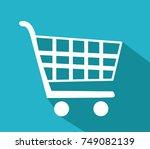 vector shopping cart icon   Shutterstock .eps vector #749082139
