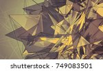 abstract mosaic vintage... | Shutterstock . vector #749083501