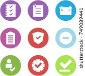 origami corner style icon set   ... | Shutterstock .eps vector #749089441