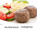 Small photo of Meatballs with Spaghetti