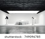 large photographic studio with... | Shutterstock . vector #749096785