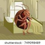 metamorphosis cockroach | Shutterstock .eps vector #749098489