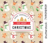 merry christmas background | Shutterstock .eps vector #749098909