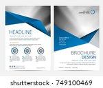 brochure template flyer design...   Shutterstock .eps vector #749100469