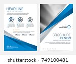 brochure template flyer design... | Shutterstock .eps vector #749100481