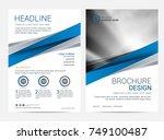 brochure template flyer design... | Shutterstock .eps vector #749100487
