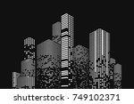 building and city illustration. ... | Shutterstock .eps vector #749102371