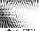 abstract halftone dotted grunge ... | Shutterstock .eps vector #749104951