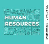 human resources. vector... | Shutterstock .eps vector #749105437