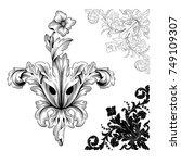classical baroque vector set of ...   Shutterstock .eps vector #749109307